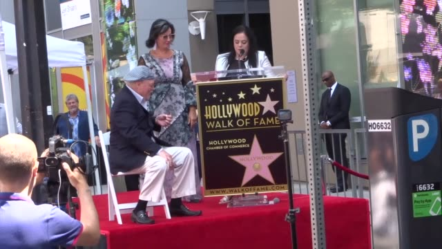 vídeos y material grabado en eventos de stock de malgosia tomassi speaks at her husband stacy keach's star ceremony on the hollywood walk of fame in hollywood in celebrity sightings in los angeles - stacy keach