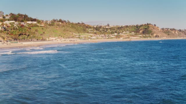 malibu beaches - aerial view - malibu stock videos & royalty-free footage