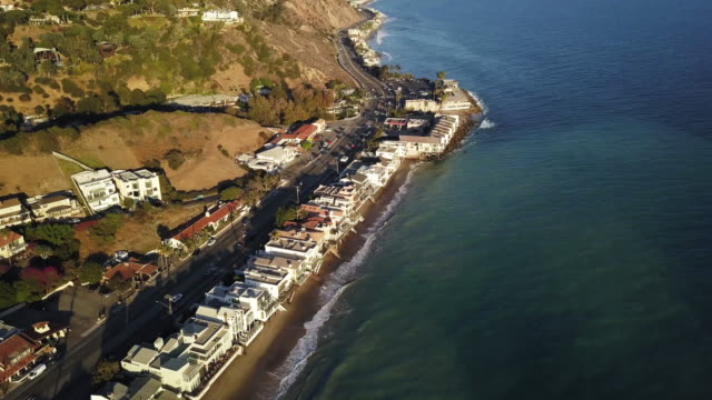 malibu ca aerial - malibu stock videos & royalty-free footage