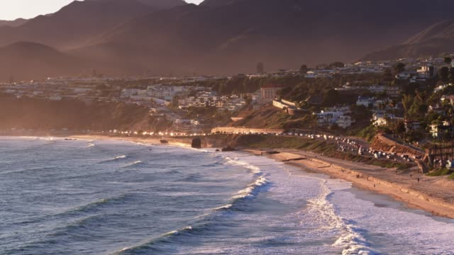 malibu, california - aerial view - coastline stock videos & royalty-free footage