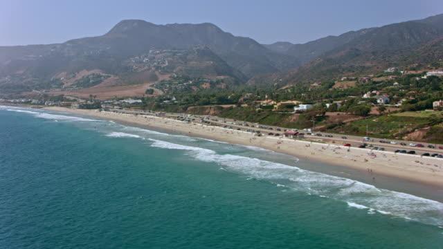 aerial malibu, california - malibu stock videos & royalty-free footage