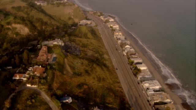 aerial malibu coast, california, usa - malibu stock videos and b-roll footage