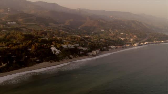 AERIAL Malibu coast, California, USA