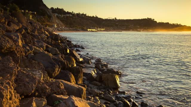 malibu coastline at sunrise timelapse - malibu stock videos & royalty-free footage