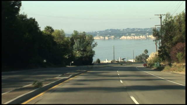 (HD1080) Malibu - Driving over PCH Pacific Coast Highway Hill