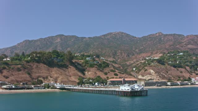 aerial malibu pier in malibu, california - pier stock videos & royalty-free footage