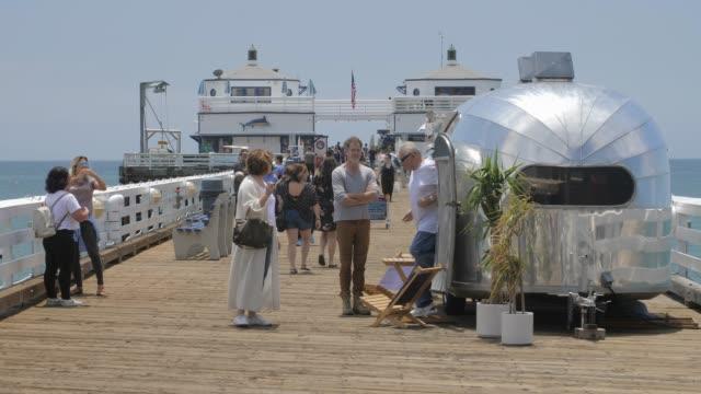 malibu pier, malibu, california, united states of america, north america - pier stock videos & royalty-free footage