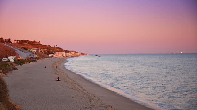 malibu. small city beach - malibu stock videos & royalty-free footage