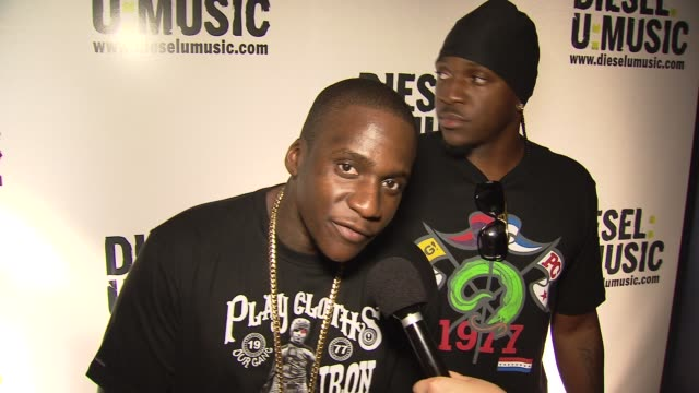 malice and pusha t of clipse introduce themselves at the the 2009 dieselumusic tour hits nyc at new york ny - popular music tour stock videos & royalty-free footage
