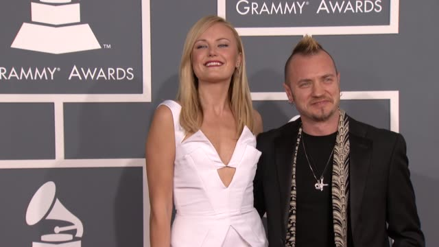 Malin Akerman and Roberto Zincone at 54th Annual GRAMMY Awards Arrivals on 2/12/12 in Los Angeles CA