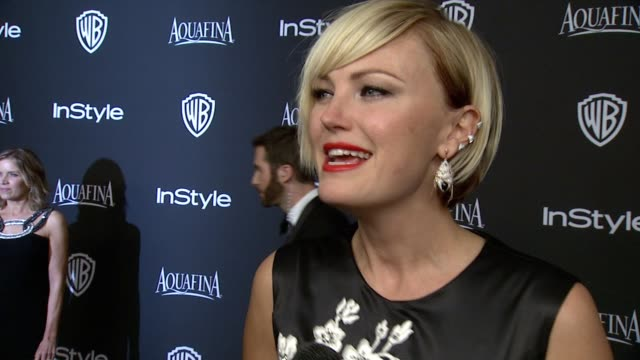 INTERVIEW Malin Akerman at 16th Annual InStyle And Warner Bros Golden Globe AfterParty on January 11 2015 in Beverly Hills California