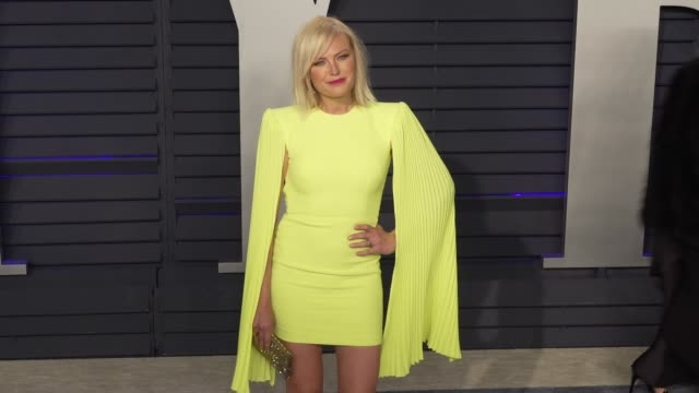 malin akerman at 2019 vanity fair oscar party hosted by radhika jones at wallis annenberg center for the performing arts on february 24, 2019 in... - vanity fair oscar party stock videos & royalty-free footage