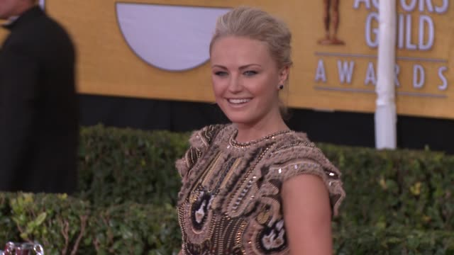malin akerman at 20th annual screen actors guild awards arrivals at the shrine auditorium on in los angeles california - シュラインオーディトリアム点の映像素材/bロール