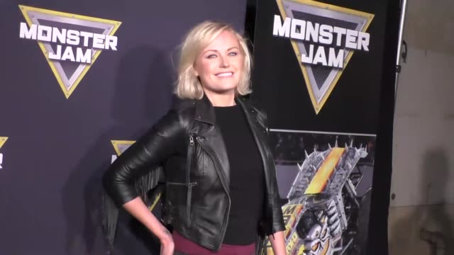 Malin Akerman at Monster Jam Celebrity Night at Angel Stadium of Anaheim at Celebrity Sightings in Los Angeles on January 16 2016 in Los Angeles...