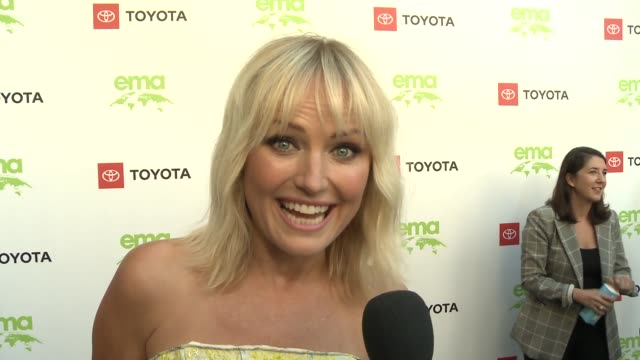 interview malin akerman at the 29th annual environmental media awards at montage beverly hills on may 30 2019 in beverly hills california - environmental media awards stock videos & royalty-free footage