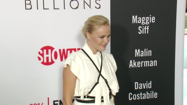 Malin Akerman at the For Your Consideration Screening And Panel for Showtime's Billions Red Carpet at The WGA Theater on April 26 2016 in Beverly...