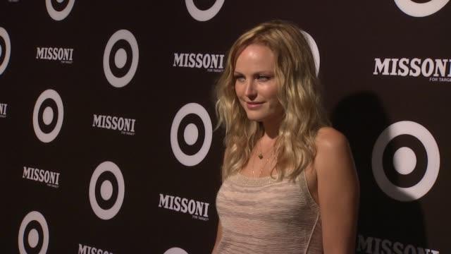 vídeos de stock, filmes e b-roll de malin akerman at the missoni for target private launch event at new york ny - missoni