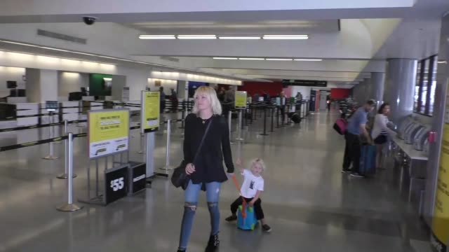 Malin Akerman departing at LAX Airport in Los Angeles in Celebrity Sightings in Los Angeles