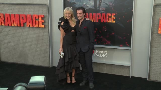Malin Akerman Jack Donnelly at 'Rampage' World Premiere in Los Angeles CA