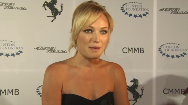 Malin Akerman on being a part of the night what Ferrari represents to her and if she aspires to own one if she's seen the Ferrari 458 Italia yet or...
