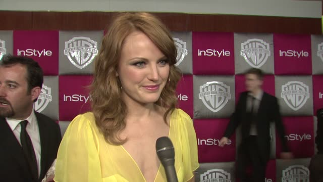 Malin Akerman on Slumdog Millionaire and on being at the InStyle party at the InStyle 2009 Golden Globes After Party Part 4 at Los Angeles CA