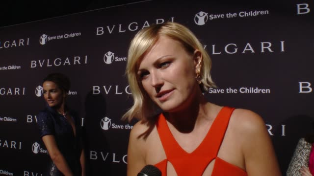 INTERVIEW Malin Akerman on the cause at BVLGARI Partners With Save The Children To Launch STOPTHINKGIVE A Collection Of Celebrity Portraits By...