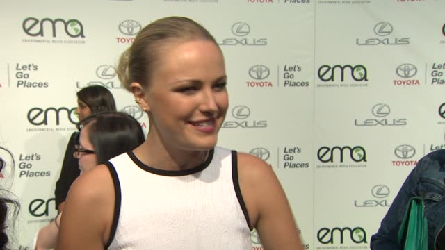 INTERVIEW Malin Akerman on the EMA Awards 2013 Environmental Media Awards Presented by Toyota Lexus at Warner Bros Studios in Burbank CA on 10/19/13...
