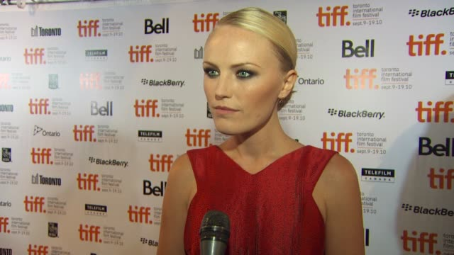 malin akerman on the most challenging part of the role, and on whether it gave her more respect for what the media does at the 2010 toronto... - malin åkerman stock videos & royalty-free footage