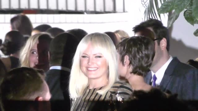 malin akerman outside the pre sag awards party at chateau marmont in west hollywood in celebrity sightings in los angeles, - malin åkerman stock videos & royalty-free footage