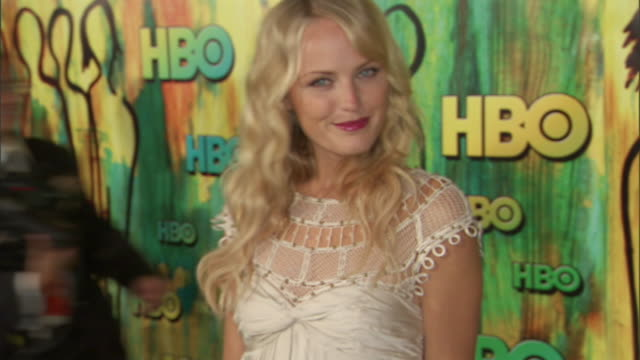 HD Malin Akerman standing on red carpet at Pacific Design Center posing for camera
