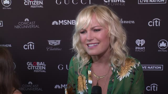 INTERVIEW Malin Akerman talks about helping to give people insight into how they can help at 2017 Global Citizen Festival For Freedom For Justice For...