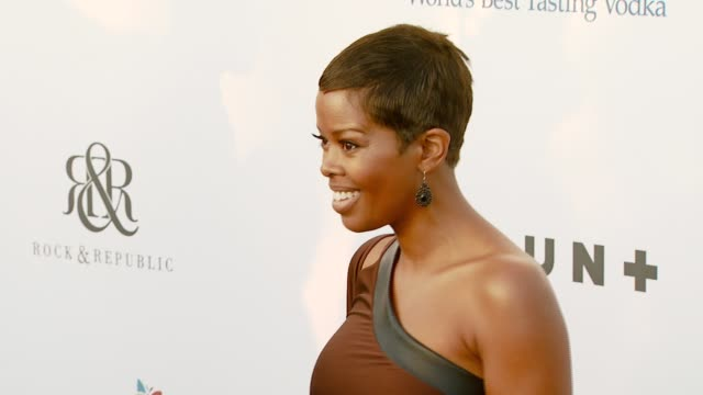 malinda williams at the chrysalis butterfly ball at a private residence in los angeles california on june 2 2007 - chrysalis butterfly ball video stock e b–roll