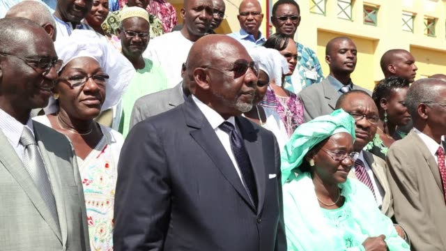malis former premier who was strongarmed into resigning by an ex junta meets his replacement prime minister diango cissoko for an official handover... - replacement stock videos and b-roll footage