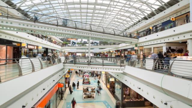 tl ws mall at estação do oriente lisbon - traditionally portuguese stock videos and b-roll footage