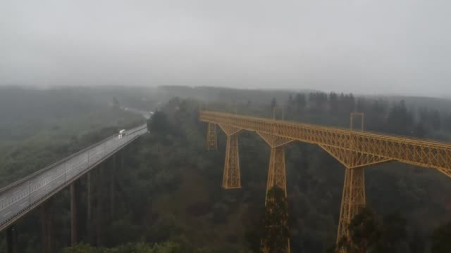 malleco viaduct - railway bridge stock videos & royalty-free footage