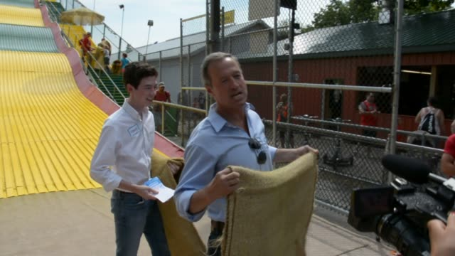 O'Malley talks about his experience going down the slide and how the last time he went down one was in Texas as a kid