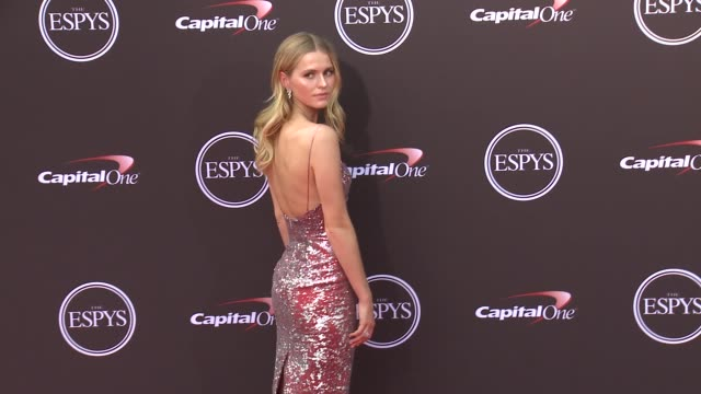 vídeos de stock, filmes e b-roll de mallory edens at the 2018 espys at microsoft theater on july 18 2018 in los angeles california - espy awards