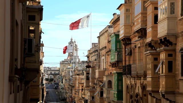malta flag - valletta stock videos & royalty-free footage