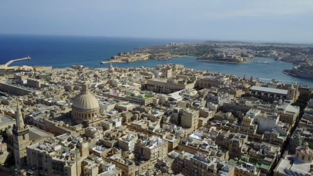 malta - mediterranean travel destination, valetta, capital of malta - valletta stock videos & royalty-free footage