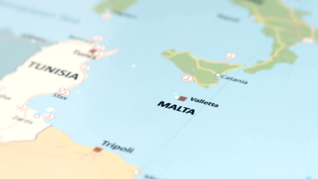 europe malta on world map - scilia stock videos & royalty-free footage