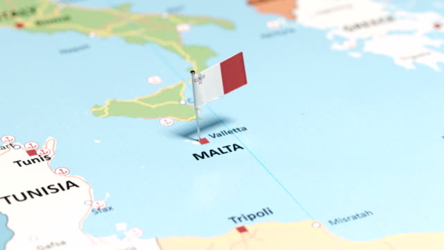 malta with national flag - scilia stock videos & royalty-free footage
