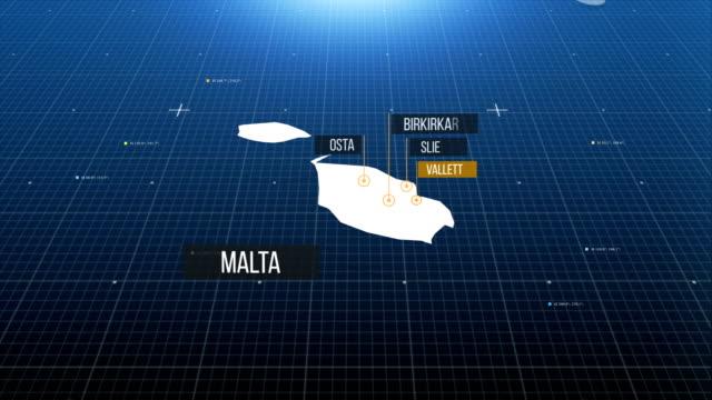 maltesische karte - symbol stock-videos und b-roll-filmmaterial