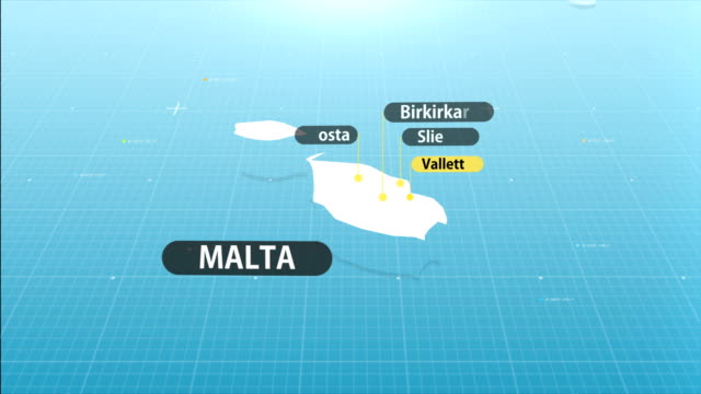 maltese map - malta stock videos & royalty-free footage