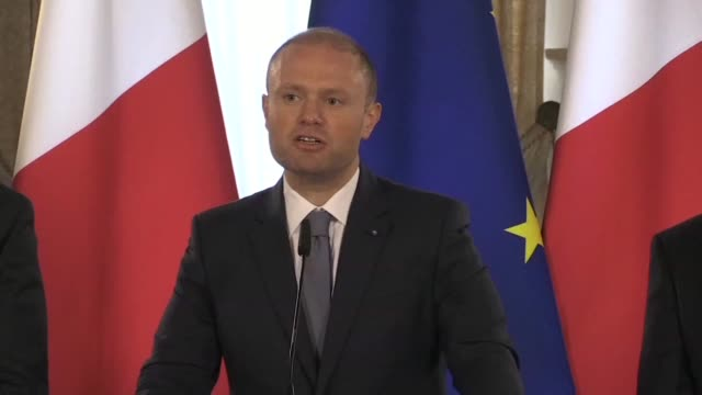 maltese prime minister joseph muscat says the ngo rescue ship lifeline which has been stranded for days in the mediterranean carrying over 200... - prime minister video stock e b–roll