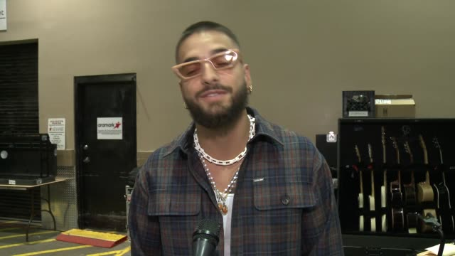 maluma on how he feels to be at his first billboard music awards, talks about performing with madonna, reminisces about the first time he saw himself... - billboard music awards stock videos & royalty-free footage