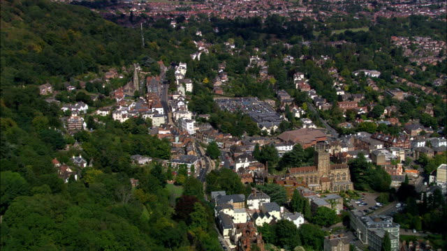 Malvern - Aerial View - England, Worcestershire, Malvern Hills District, United Kingdom