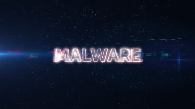 malware word animation - pin entry stock videos & royalty-free footage