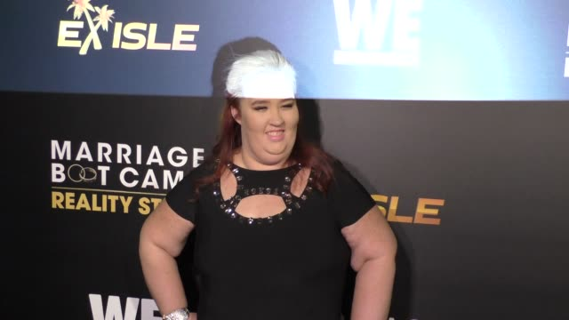 mama june shannon at the we tv celebrates the premiere of marriage boot camp reality stars and ex-isled at le jardin nightclub in hollywood on... - reality tv stock videos & royalty-free footage