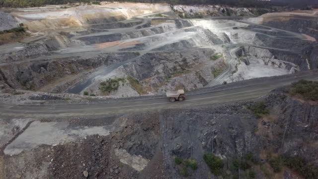 mammoth truck in lithium mine south western australia - mine stock videos & royalty-free footage
