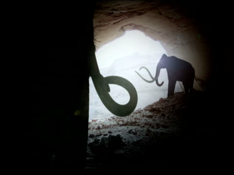 Mammoths leave cave, USA